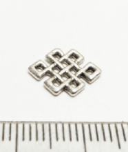 Squares connectors. 1,2 or 3 strand x 20. 12.5mm. Silver